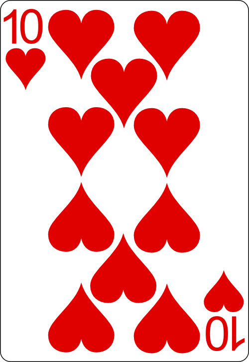 playing card 10H